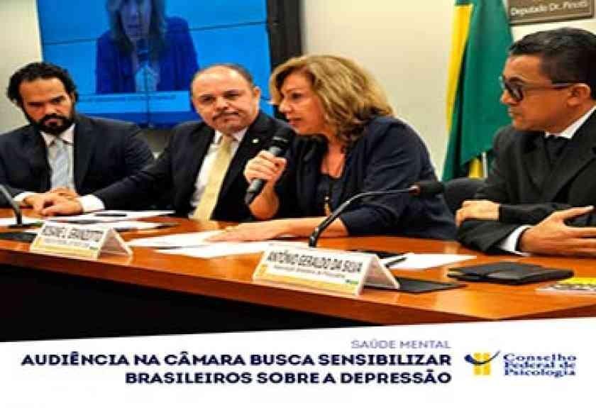Audiência busca sensibilizar brasileiros sobre a depressão